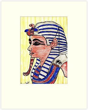 Mask of  Tutankhamen  by Kittycat10