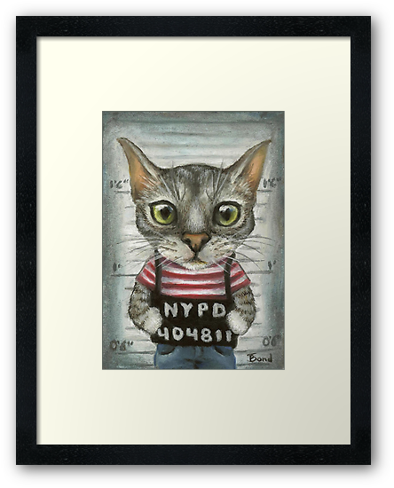 Mugshot of a cat felon arrested while attempting a bank heist by tanyabond
