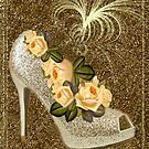 ✰* ★ GOLDEN GLITTER HIGH HEEL WITH ROSES ~♥~˚ ✰* ★ by ╰⊰✿ℒᵒᶹᵉ Bonita✿⊱╮ Lalonde✿⊱╮