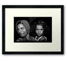 When Mother Smiles Framed Print