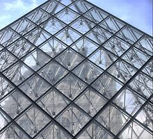Pyramid At The Louvre ( 1 ) by Larry Lingard-Davis