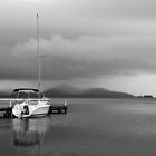 Storm over Wallis Lake by Chris  Randall