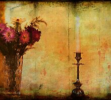 Flowers and a Candle. by tutulele