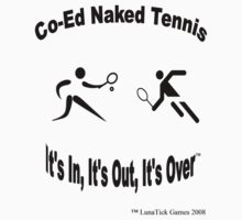 Co-Ed Naked Tennis Kids Clothes