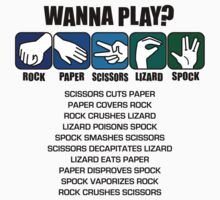 Rock Paper Scissors Lizard Spock by DetourShirts