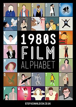 1980&#x27;s Film Alphabet by Stephen Wildish