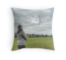The Kite Flag Flyer of Bristol Durdham Downs. Throw Pillow