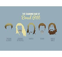 The changing hair of Brad Pitt Photographic Print