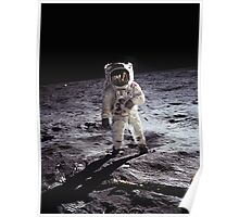 Buzz Aldrin on the Moon Poster