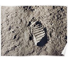 Bootprint on the Moon Poster