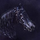 The blue Frisian Stallion by My-world-2