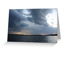 Threatening Clouds Greeting Card