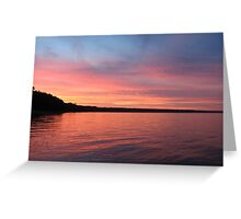 Beautiful Sunset on Lake Michigan  Greeting Card