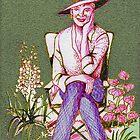 Elegant lady gardener by Joyce Grubb