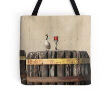 Goose on Barge Bumper Tote Bag