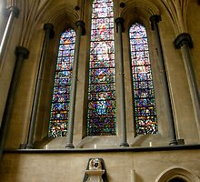 Stained Glass Temple Church London by tunna