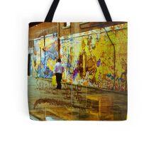 Graffiti in all it's refective glory Tote Bag