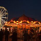 Christmas Market Ferris Wheel and Merry-Go-Round by Gary Chapple