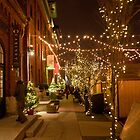 Christmas Market Lane of Lights by Gary Chapple