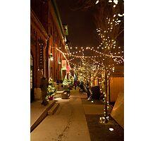 Christmas Market Lane of Lights Photographic Print
