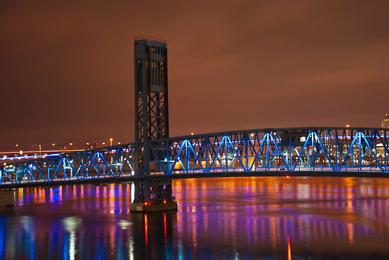 Jax Blue bridge  by RjohnDavenport