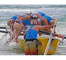 Seaspray away in Lorne Navy series Photographic Print