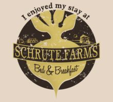 I enjoyed my stay at Schrute Farms (Brown) by PEZRULEZ