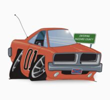 "Dodge Charger ""General Lee"" Cartoon by calimcginley"