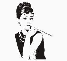 Audrey Hepburn - Tee by Lauren Eldridge-Murray