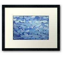 Impression White Capped Waves Framed Print