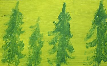 Impression Green Land Pine Trees by Thomas Murphy