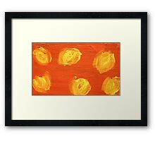 Impression Yellow Blossoms Framed Print