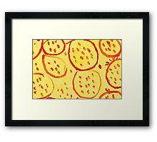 Impression Pomegranate Framed Print