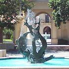 Stanford University Water Fountains  by Martha Sherman