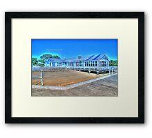 old building The pier at barwon head vicortia Framed Print
