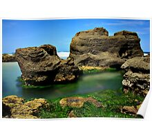 Dragons Rockpool_Caves Beach Poster