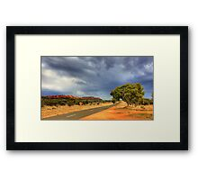 Road into the Storm Framed Print