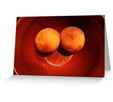 Peach Smile Greeting Card