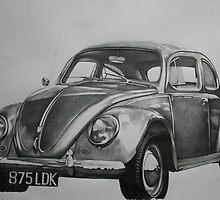 Classic VW Beetle by samcannonart