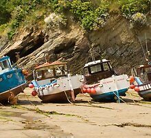 Fishing boats by Ian Merton