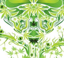 Marijuana Love Tree Sticker