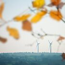 Wind Power - Clean Energy (landscape) by Andrew Bret Wallis