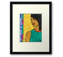 No Time for Tears Framed Print