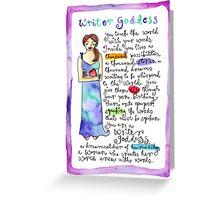 Writer Goddess Greeting Card