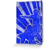 FC BLUE Army Propaganda (Weathered) Greeting Card