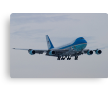 Head On Shot of 92-9000 on Approach to KCLE January 2012 Canvas Print