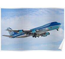 Side Shot of Air Force One Departing KCLE January 2012 Poster