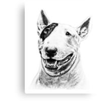 Comical Bull Terrier Canvas Print