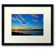 Sunset over Kayak Point Framed Print