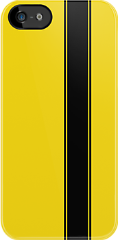 Racing Stripe - Black on Yellow by ubiquitoid